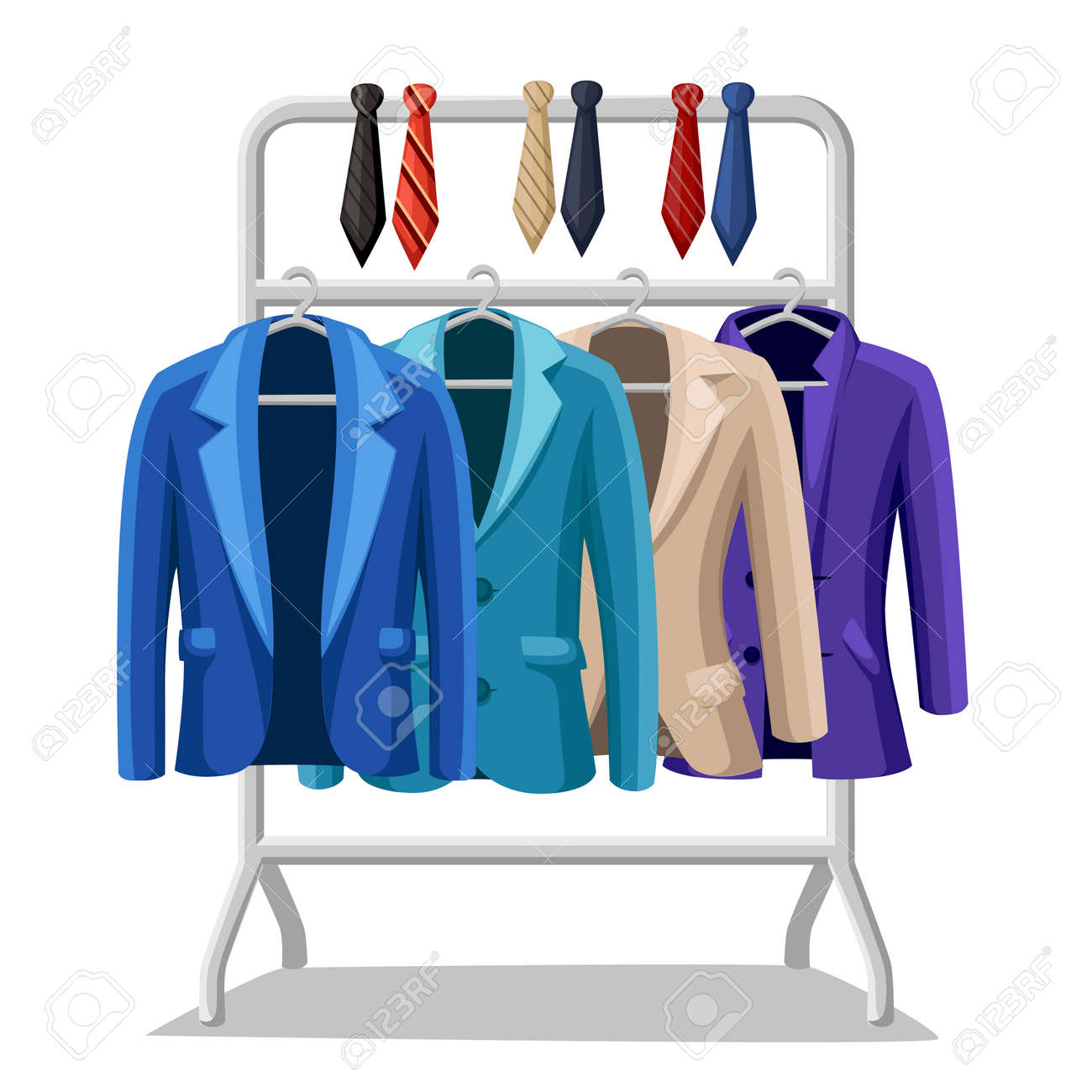 Business Suit Mens Jacket Four Jackets Of Different Colors And ...