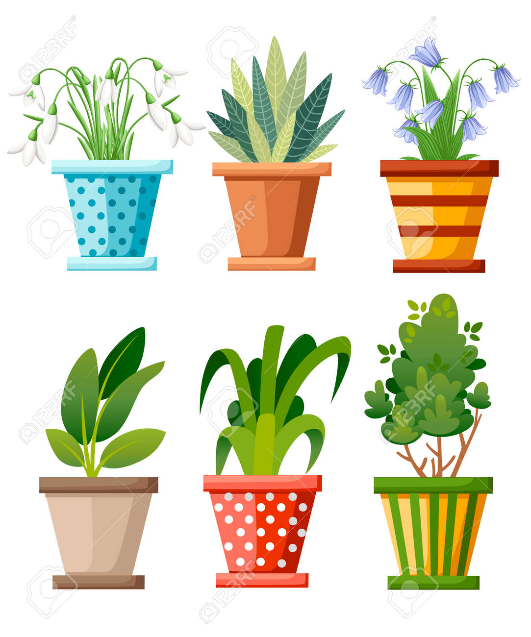 House Plants That Never Die... Indoor Plant Illustrations! - Essem  Creatives   Watercolor Clipart & Business Branding