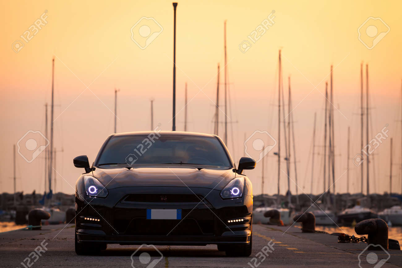 Sistiana Italy June 12 2013 Photo Of A Nissan Gt R Black Edition