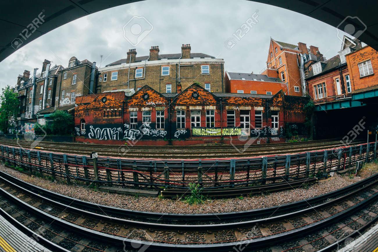 OCTUBRE DE 2013 Estacin Del Oeste De Hampstead La Ms Profunda Debajo Nivel Calle Es Lnea Septentrional
