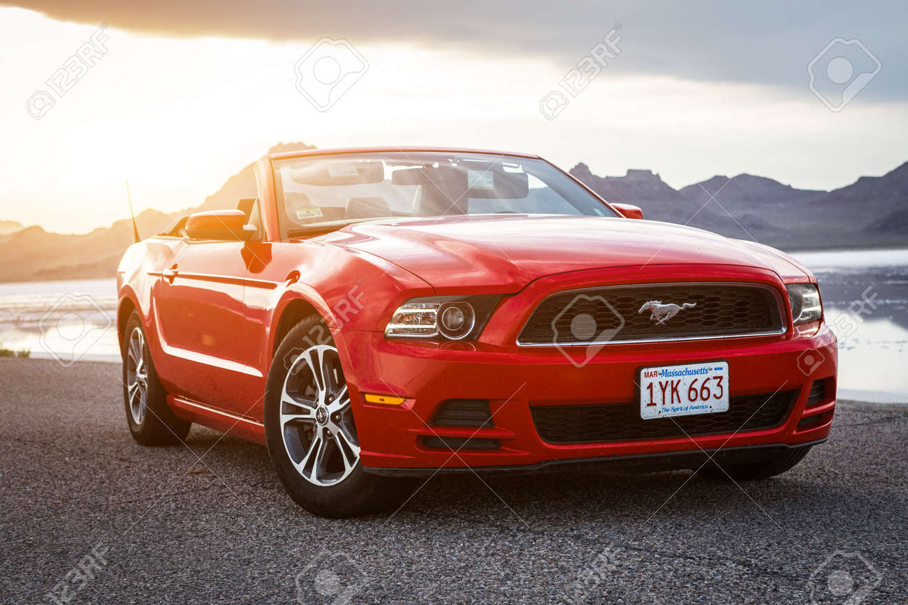 Bonneville utah usa june 4 2015 photo of a ford mustang convertible