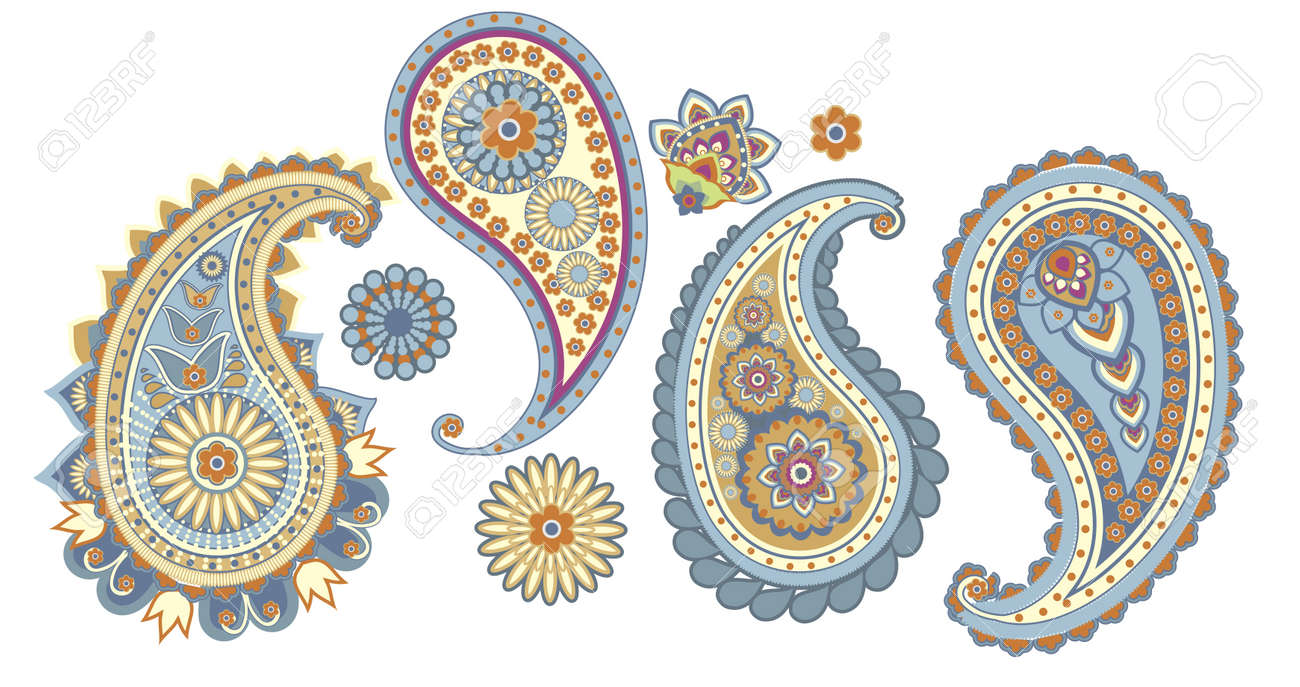 traditional Asian elements Paisley on a white background Stock Vector - 16194548