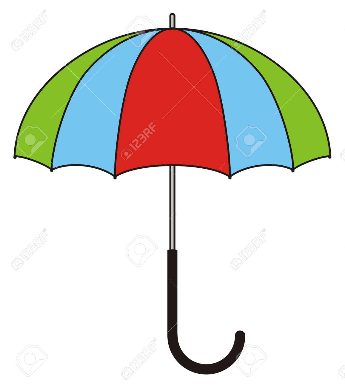 Children's illustration - colorful umbrella Stock Vector - 16194493