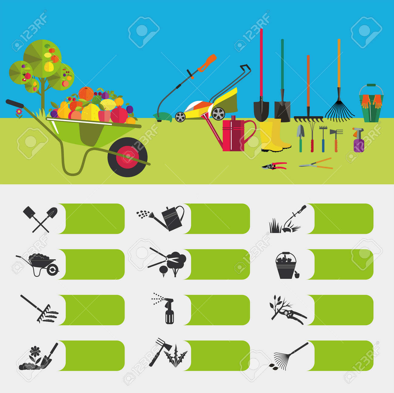 Gardening icons on the theme of organic farming symbols stages gardening icons on the theme of organic farming symbols stages of cultivation of plants biocorpaavc