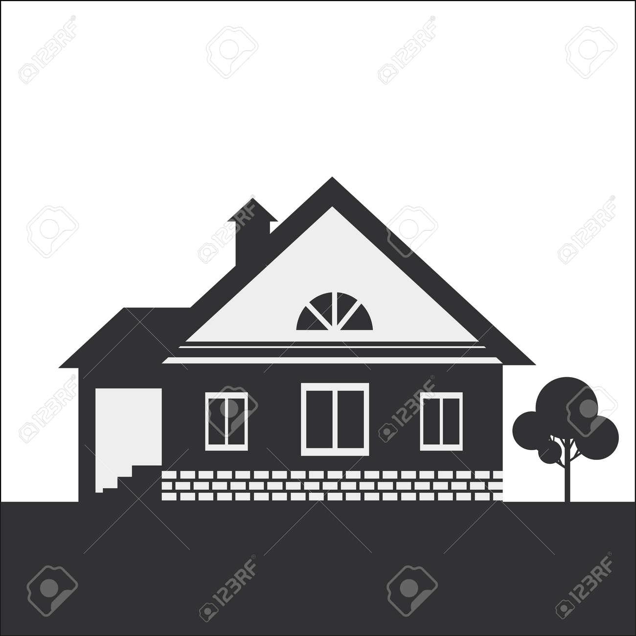Dessin dune maison de campagne