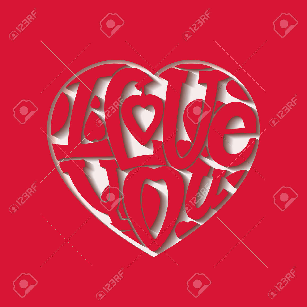 vector design lettering i love you the composition of the letters in the shape of a heart red design lettering design lettering i love you