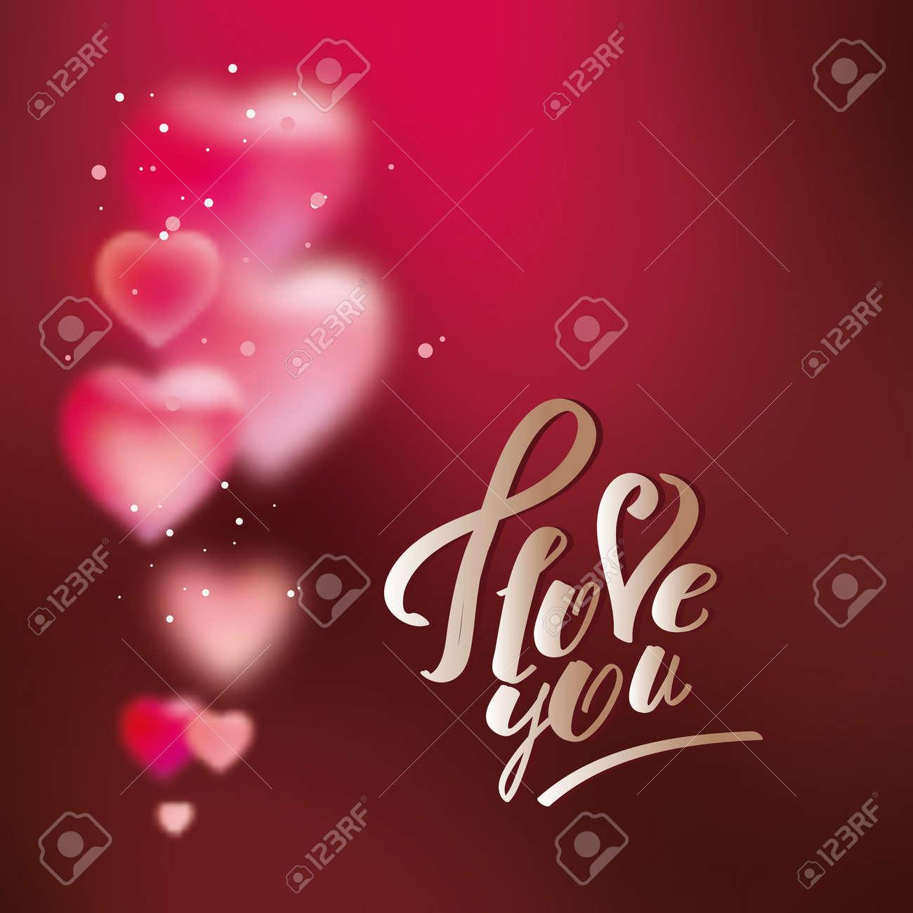 Hintergrund Mit Herzen Zum Valentinstag Vorlage Fur Grusskarten