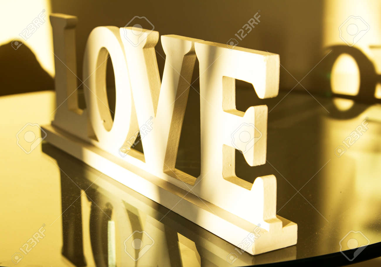 inscription love big white wooden letters stock photo 34044664