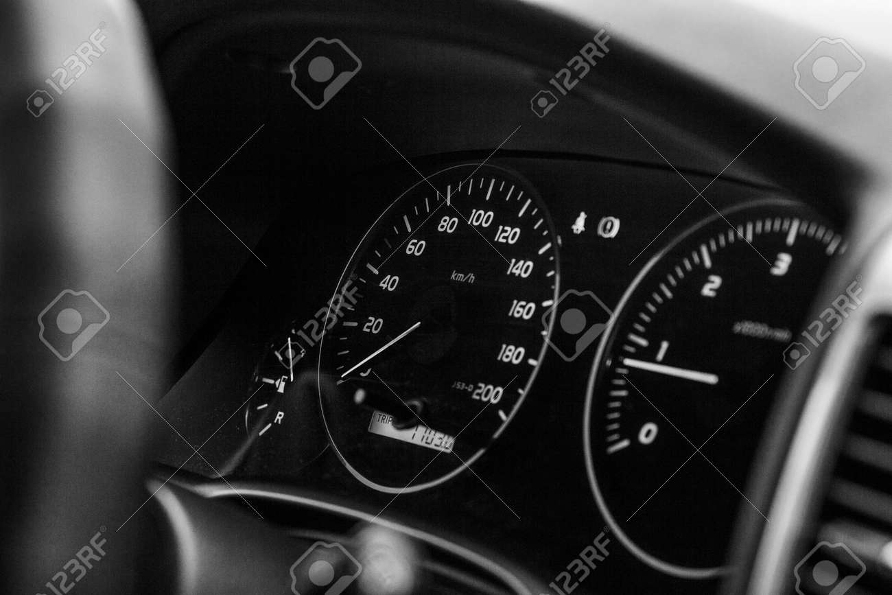 Speedometer And Dashboard Car Black And White Photography Stock Photo Picture And Royalty Free Image Image 37243716