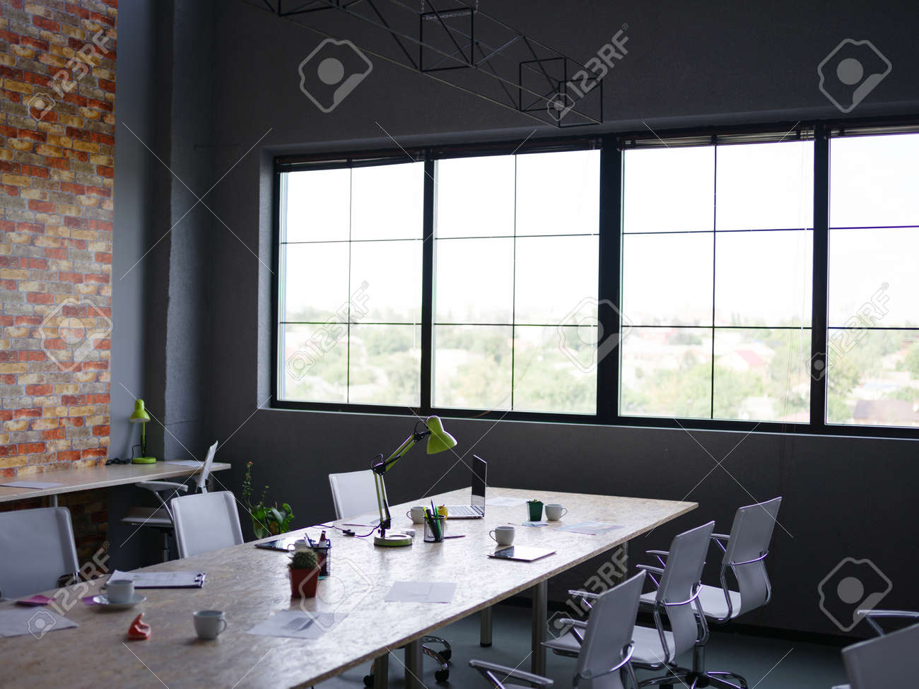 Beautiful Office View And Panoramic Window In The Background Stock Photo Picture And Royalty Free Image Image 87424261