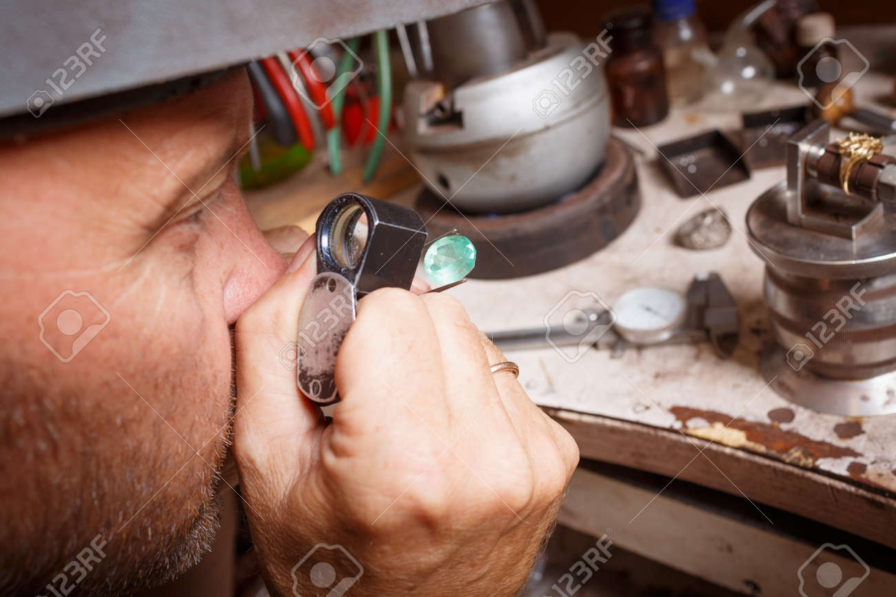 Close-up Of A Professional Jeweler Crafting Expensive Jewelry ...