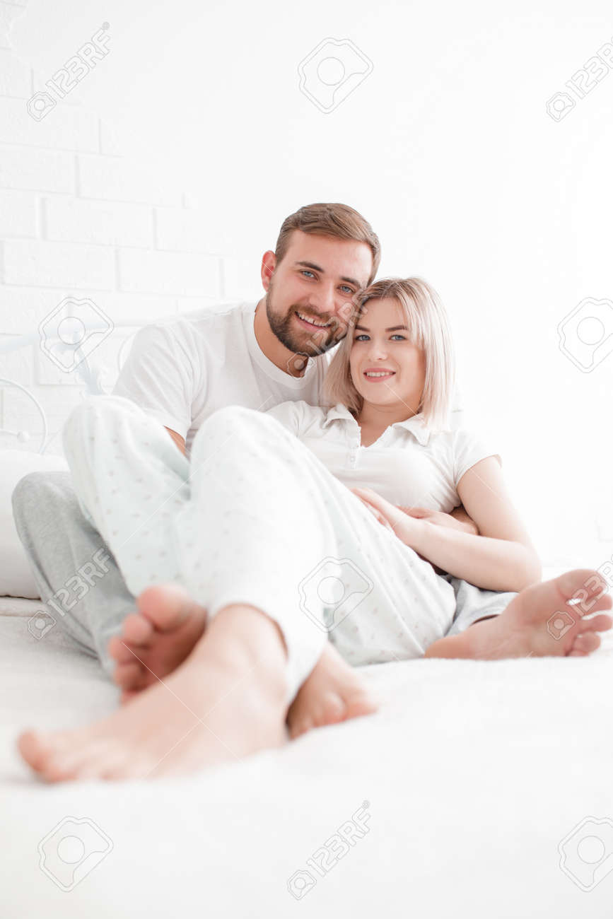 Sensual Young Couple Together In Bed Happy Couple In Bedroom Stock Photo Picture And Royalty Free Image Image 87814217