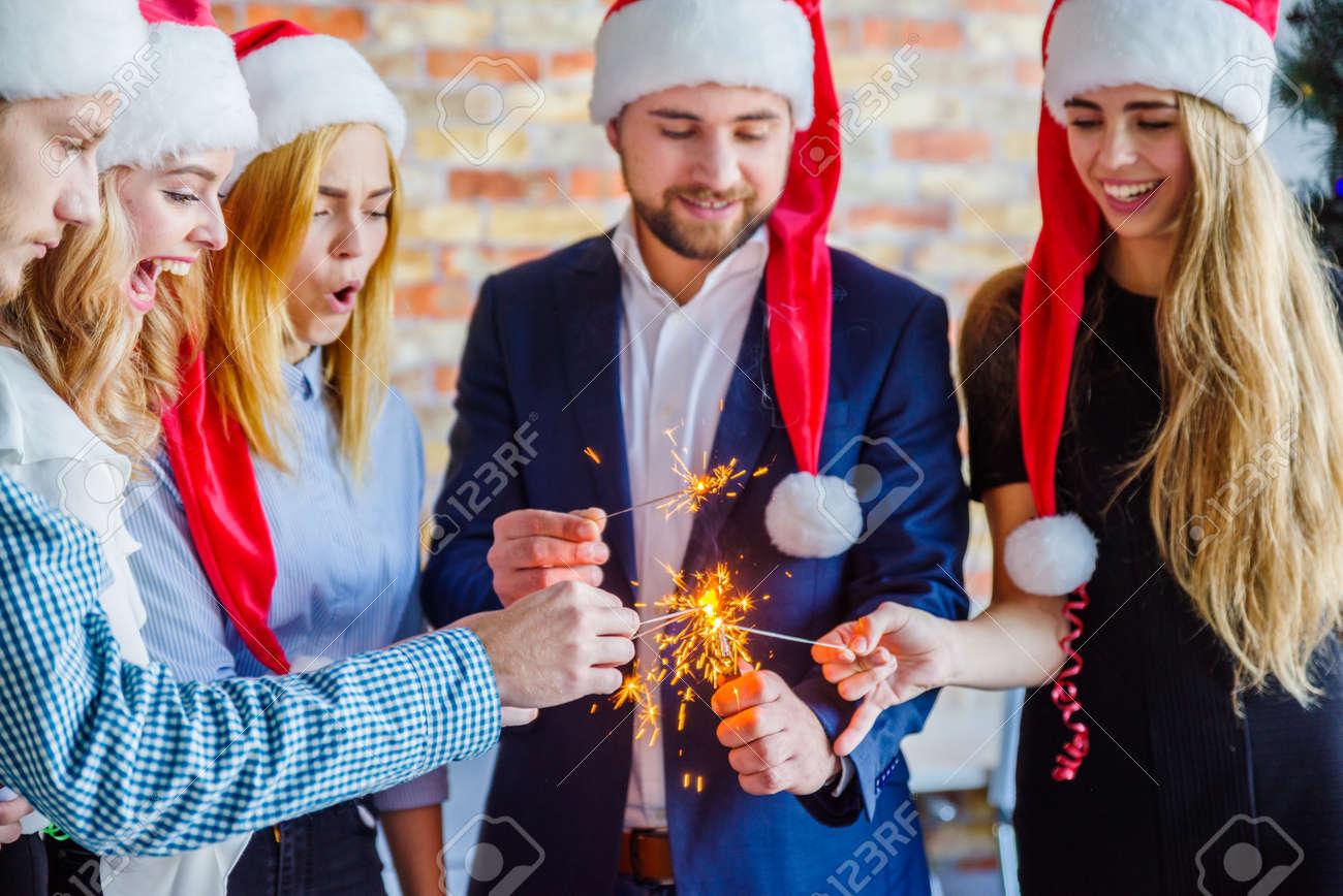Weihnachtsfeier Geschäft.Stock Photo