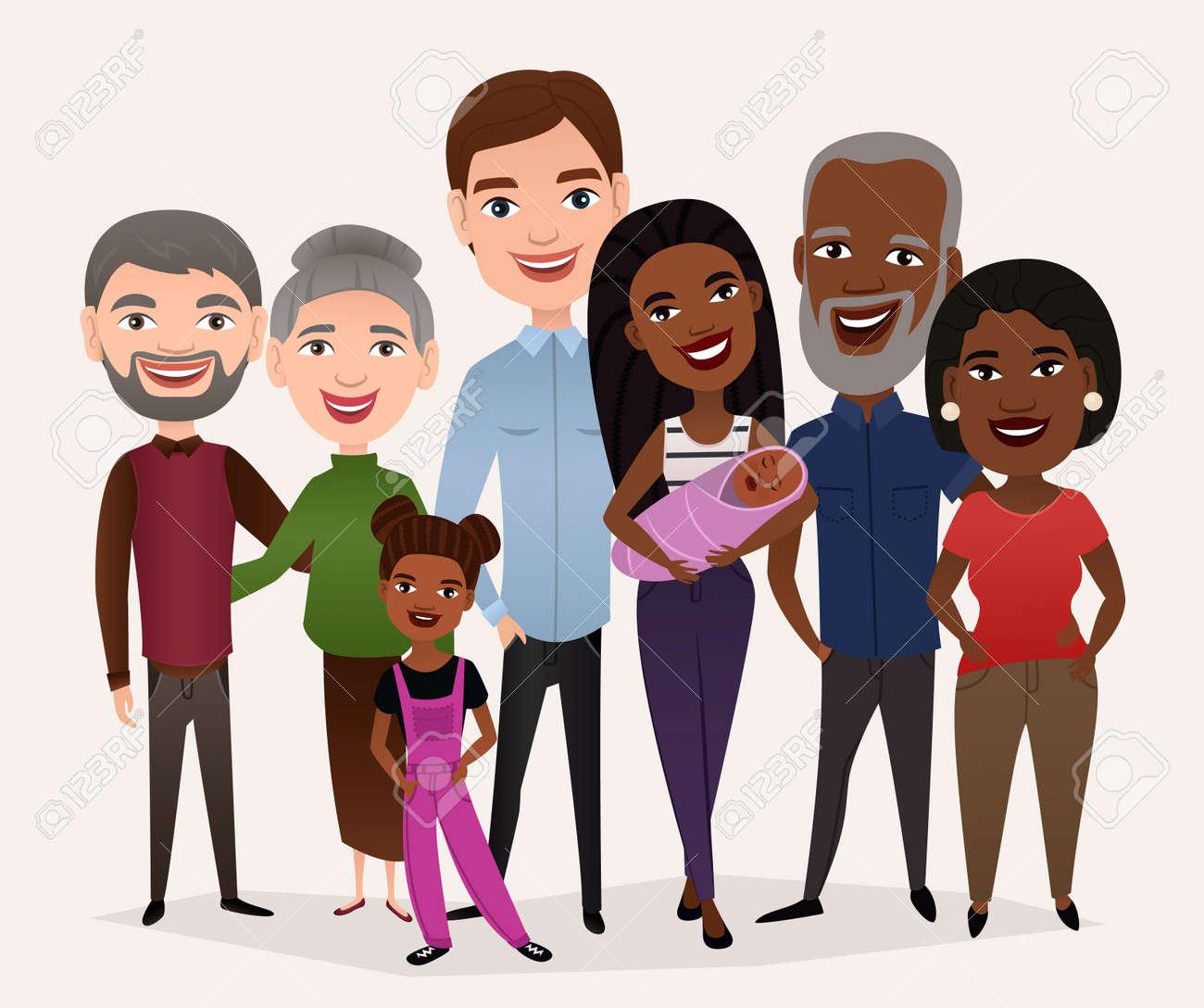 Big happy family cartoon concept - 69262155