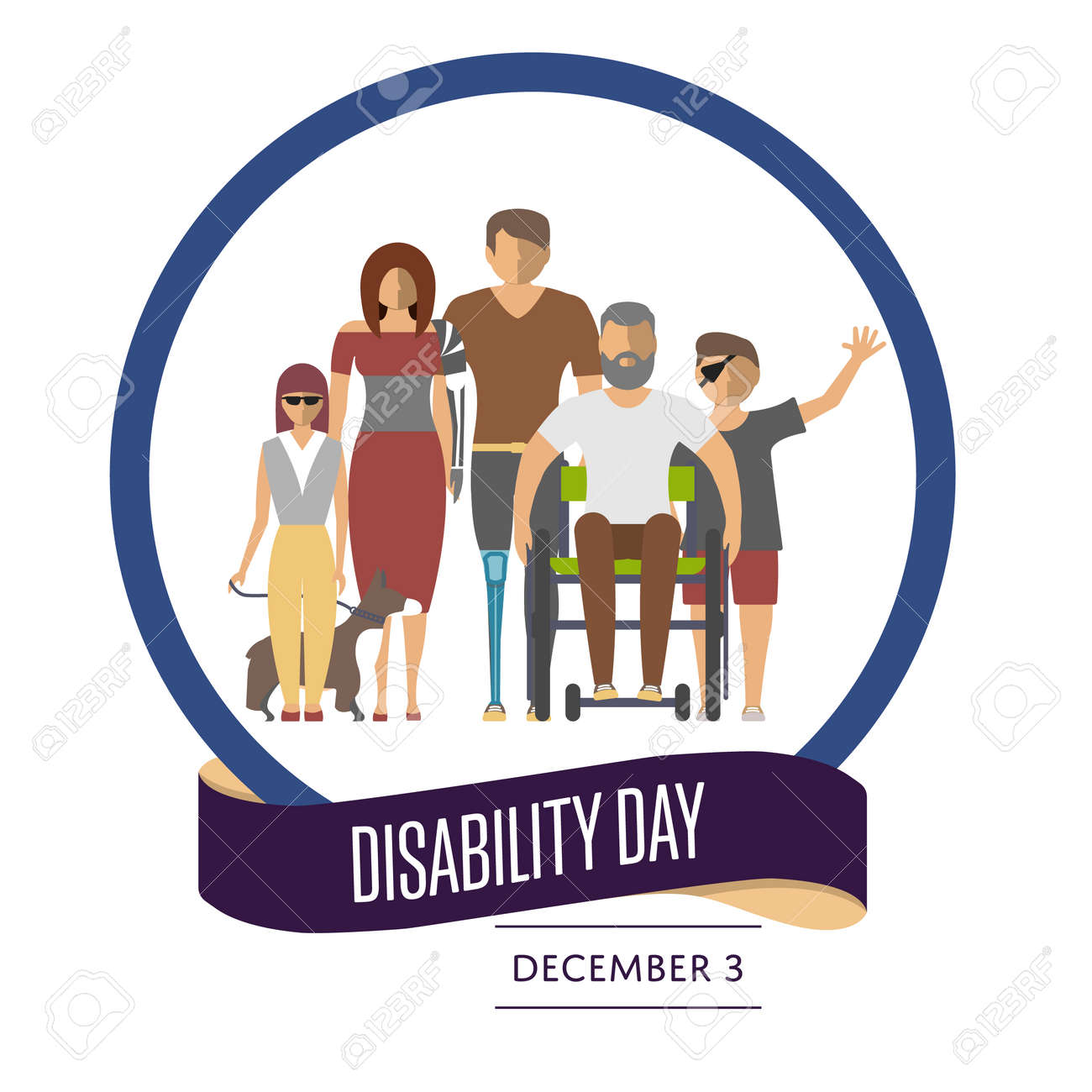 December 3 world disability day greeting card template in flat december 3 world disability day greeting card template in flat design vector illustration invalid m4hsunfo Gallery
