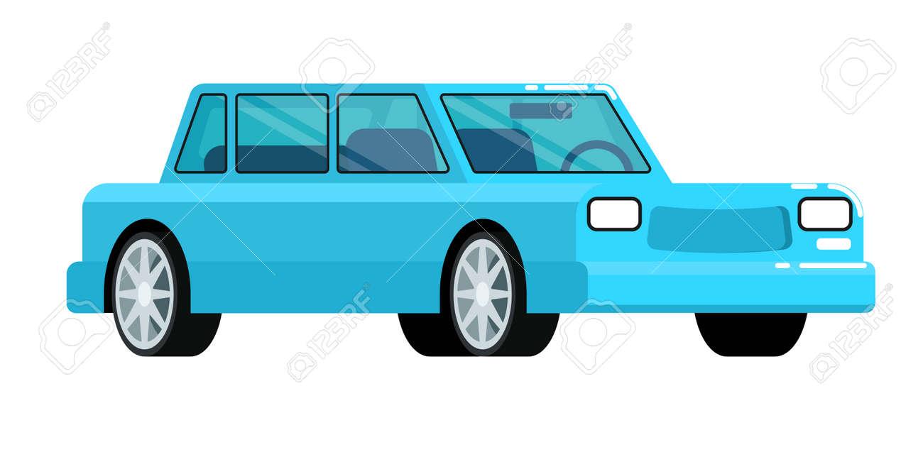 Blue Citycar Icon Isolated On White Background Vector Illustration ...