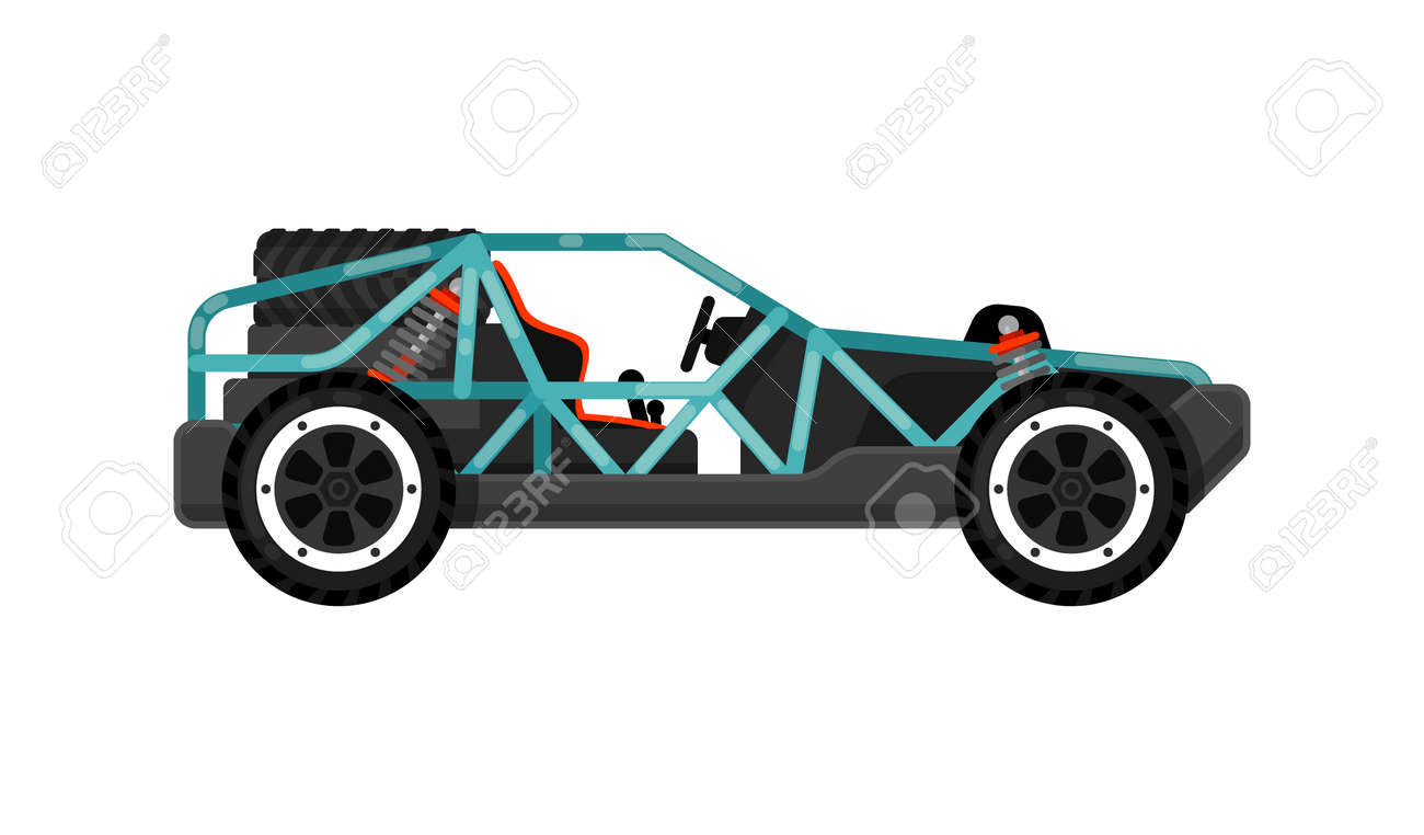 Off Road Dune Buggy Isolated Icon. Modern Auto Vehicle, Outdoor ...