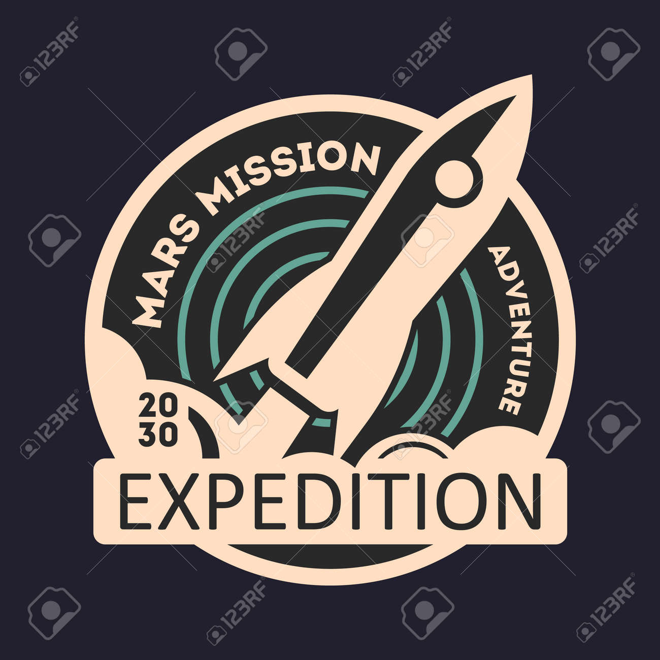 Mars mission vintage isolated label scientific odyssey symbol mars mission vintage isolated label scientific odyssey symbol modern spacecraft flying planet colonization biocorpaavc Choice Image