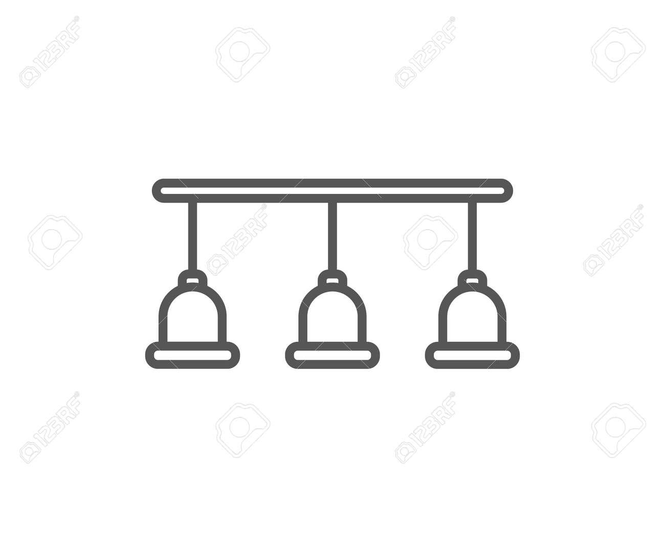 Lampen Lokalisierten Ikone In Der Linearen Art. Küchenmöbelelement ...