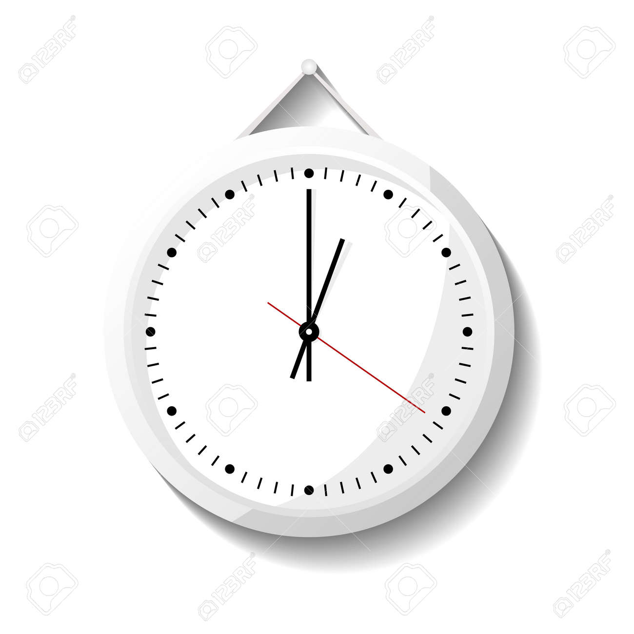 Round office wall clock icon  Analog chronometer isolated vector