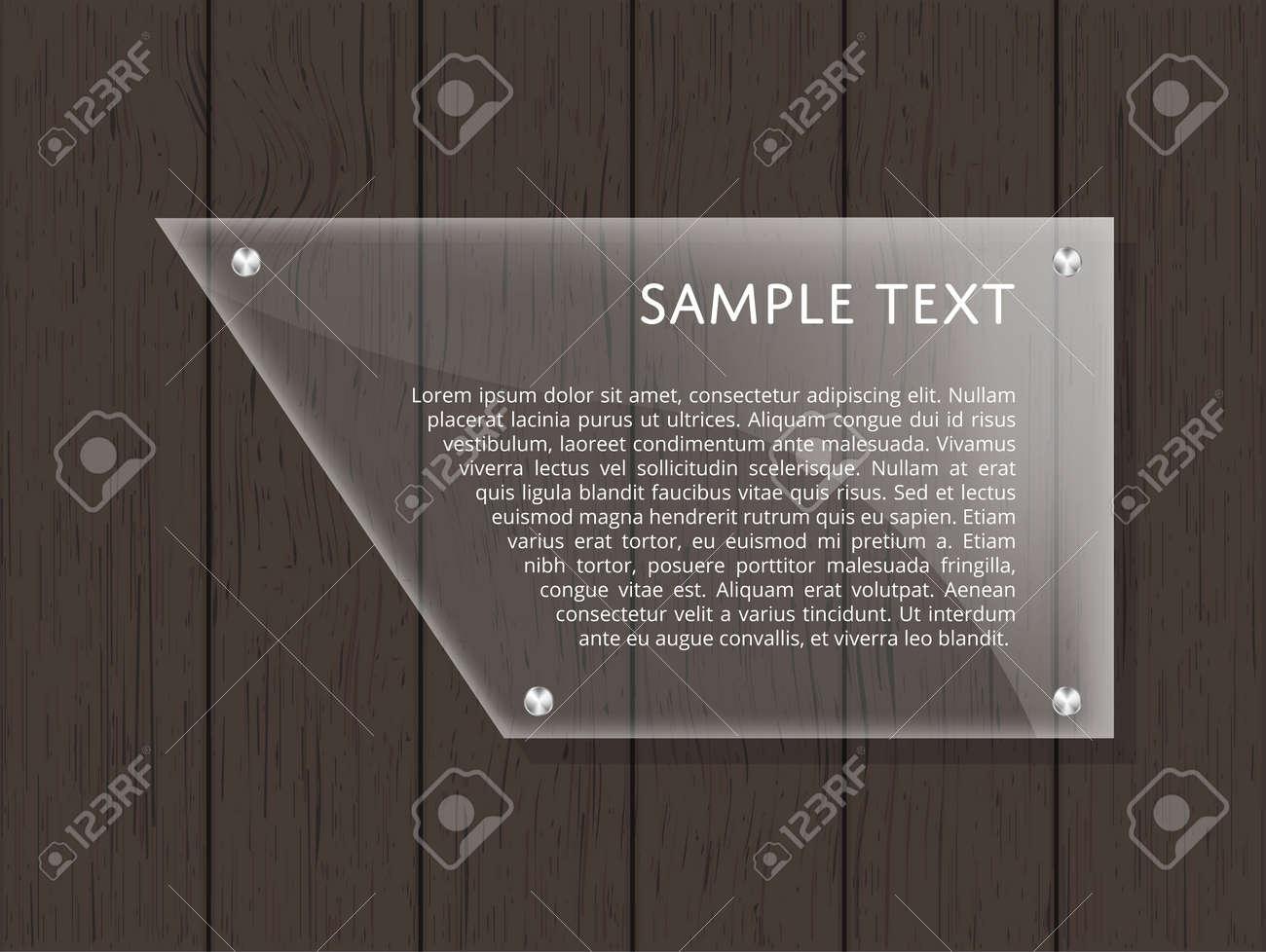 Placa De Vidrio Geométrica Con Espacio Para Texto Sobre Fondo De ...