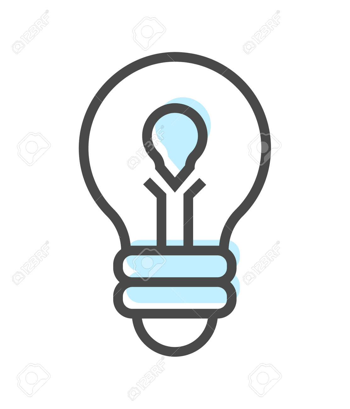 Artificial intelligence icon with lamp symbol Stock Photo - 99540206