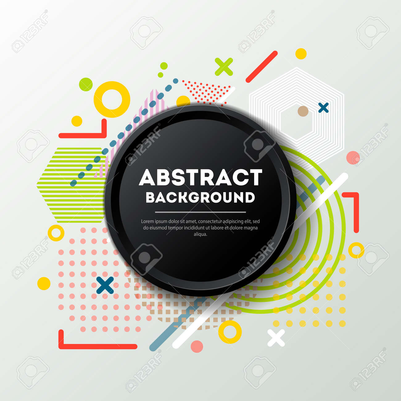 Abstract background in trendy linear style - 113332857