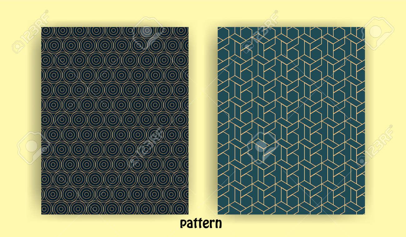set of minimal geometric line patterns for banner background wall wallpaper banner background - 155208751