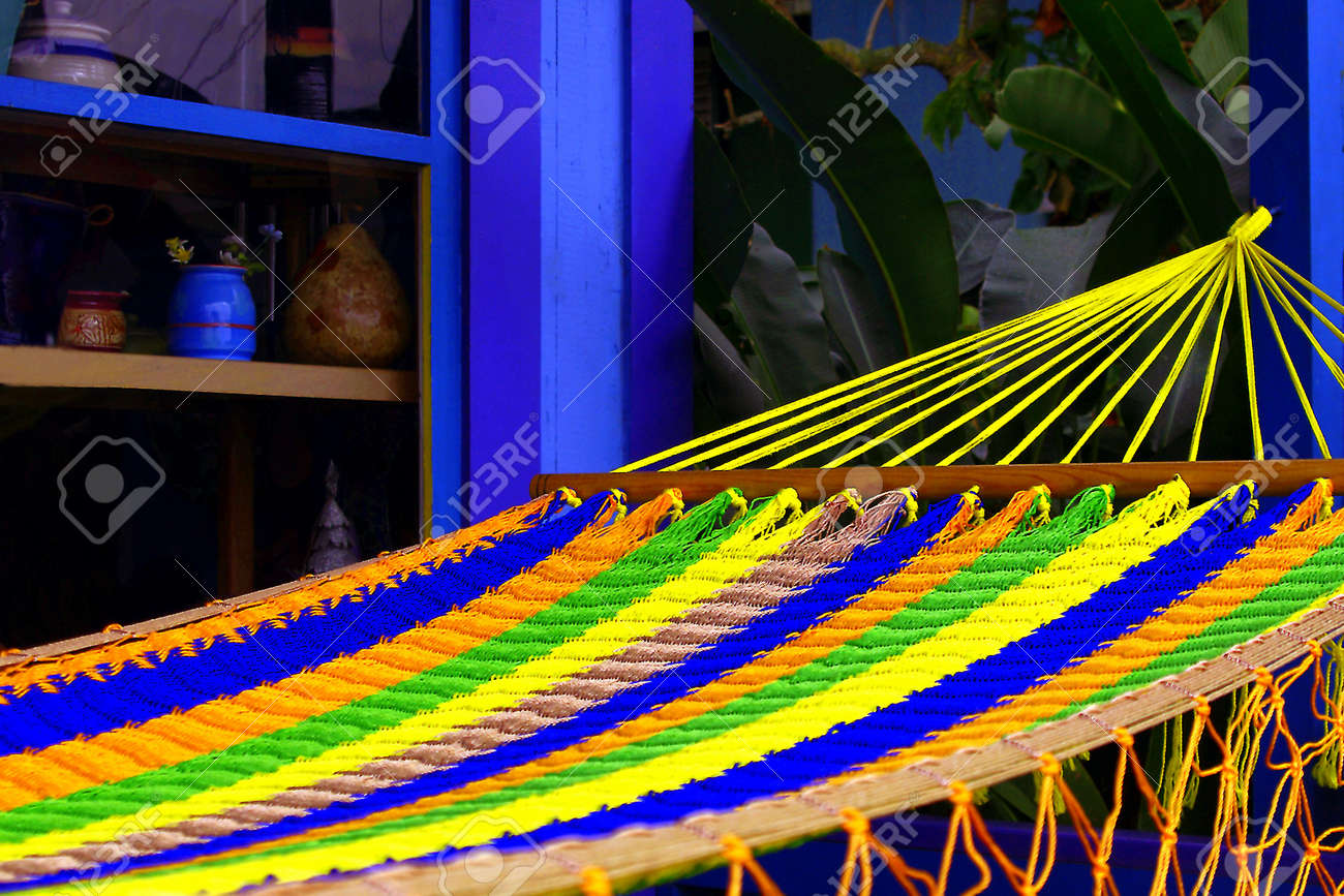 colorful hammock on hawaiian storefront stock photo picture and