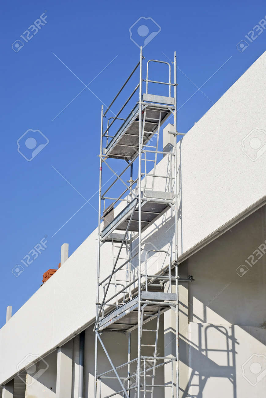 scaffold builder images stock pictures royalty scaffold scaffold builder metallic scaffold security stairs and platform for working editorial
