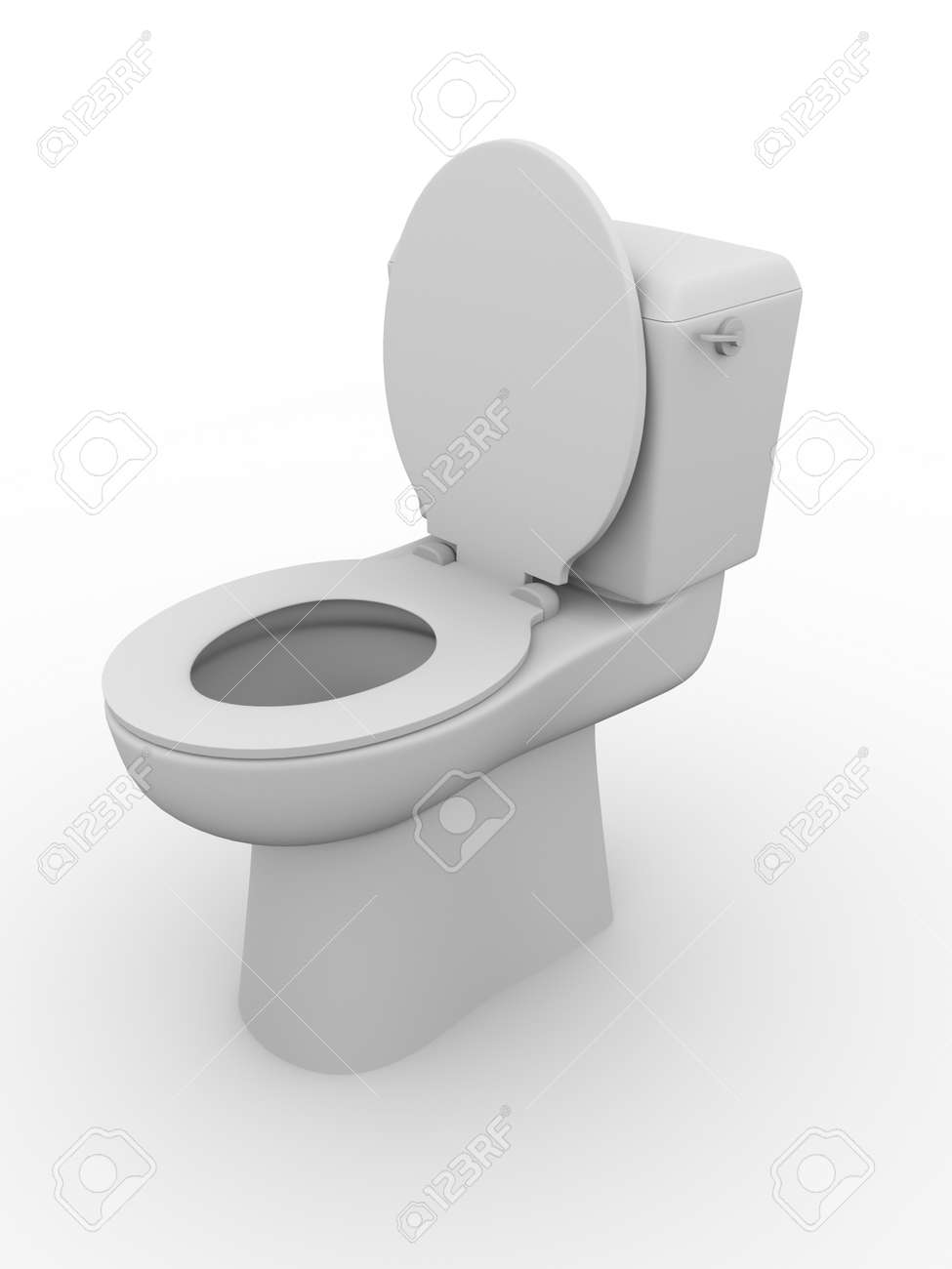 Open Toilet Bowl Bathroom Equipment Water Closet Wc Stock Photo