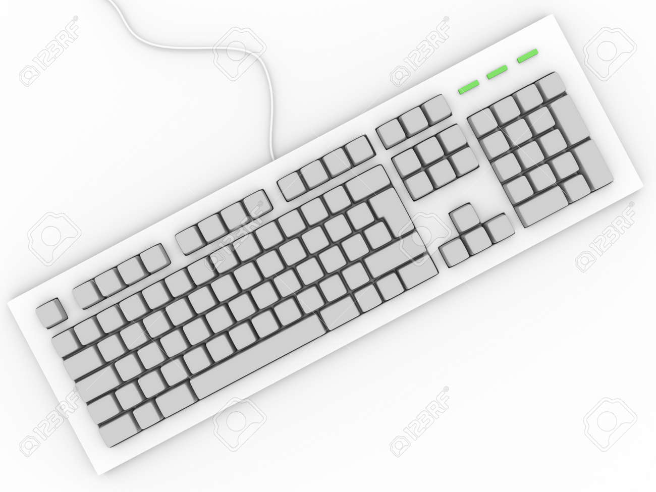 personal computer keyboard without letters input device stock photo 12700748
