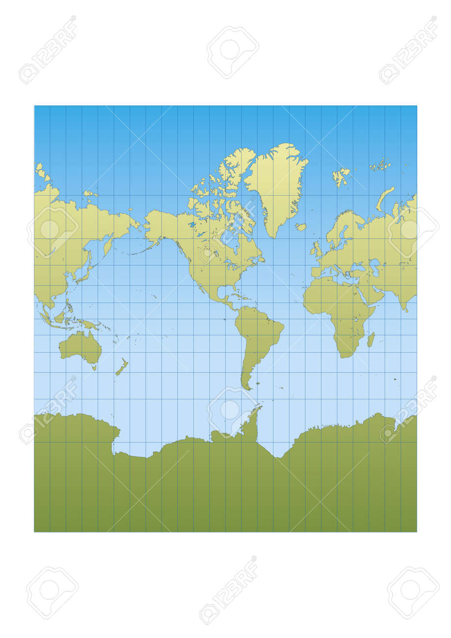 Map of the world centered in america mercator projection royalty map of the world centered in america mercator projection stock vector 17810415 sciox Choice Image