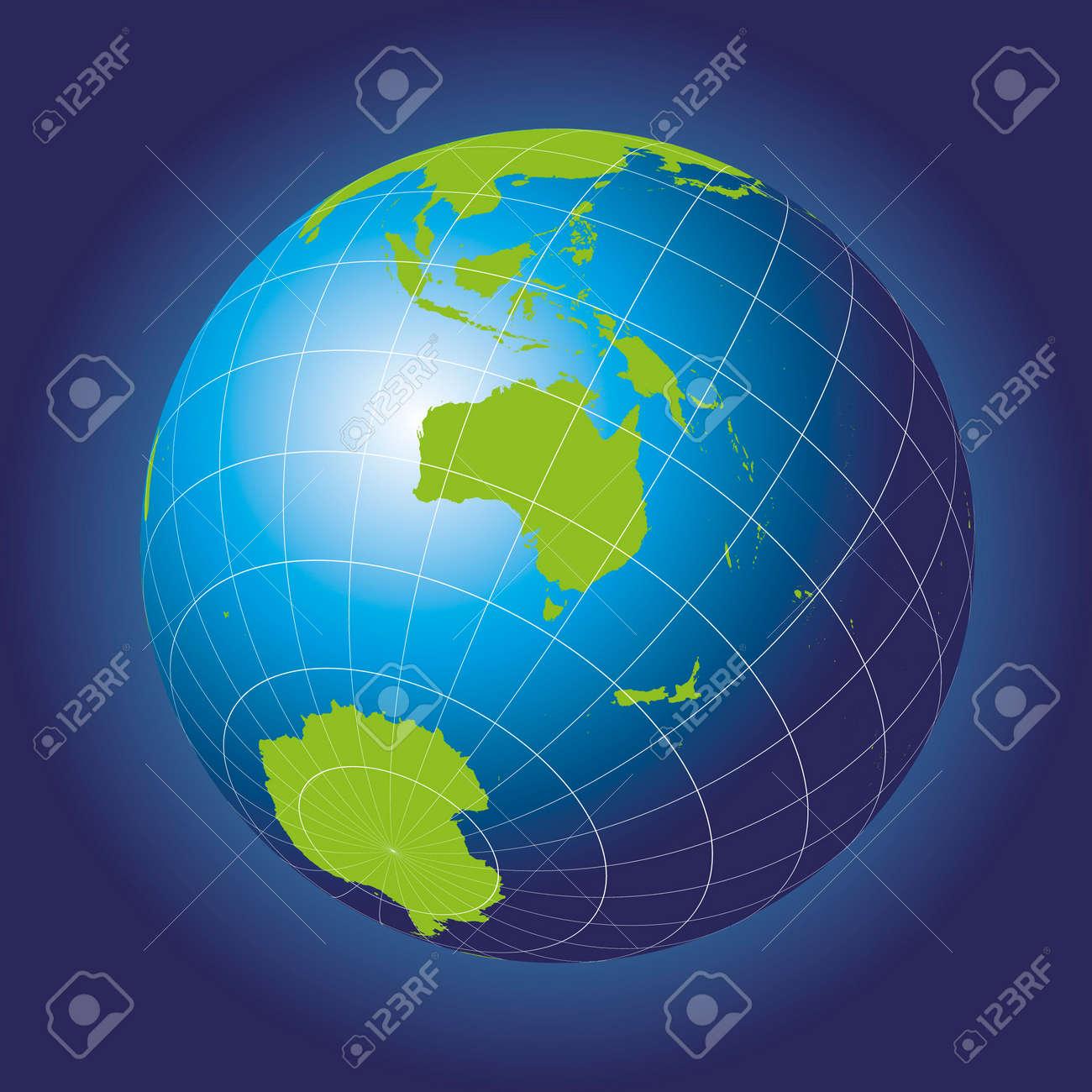 Carte Russie Australie.Carte De L Australie Asie La Russie L Antarctique Pole Nord Globe Terrestre