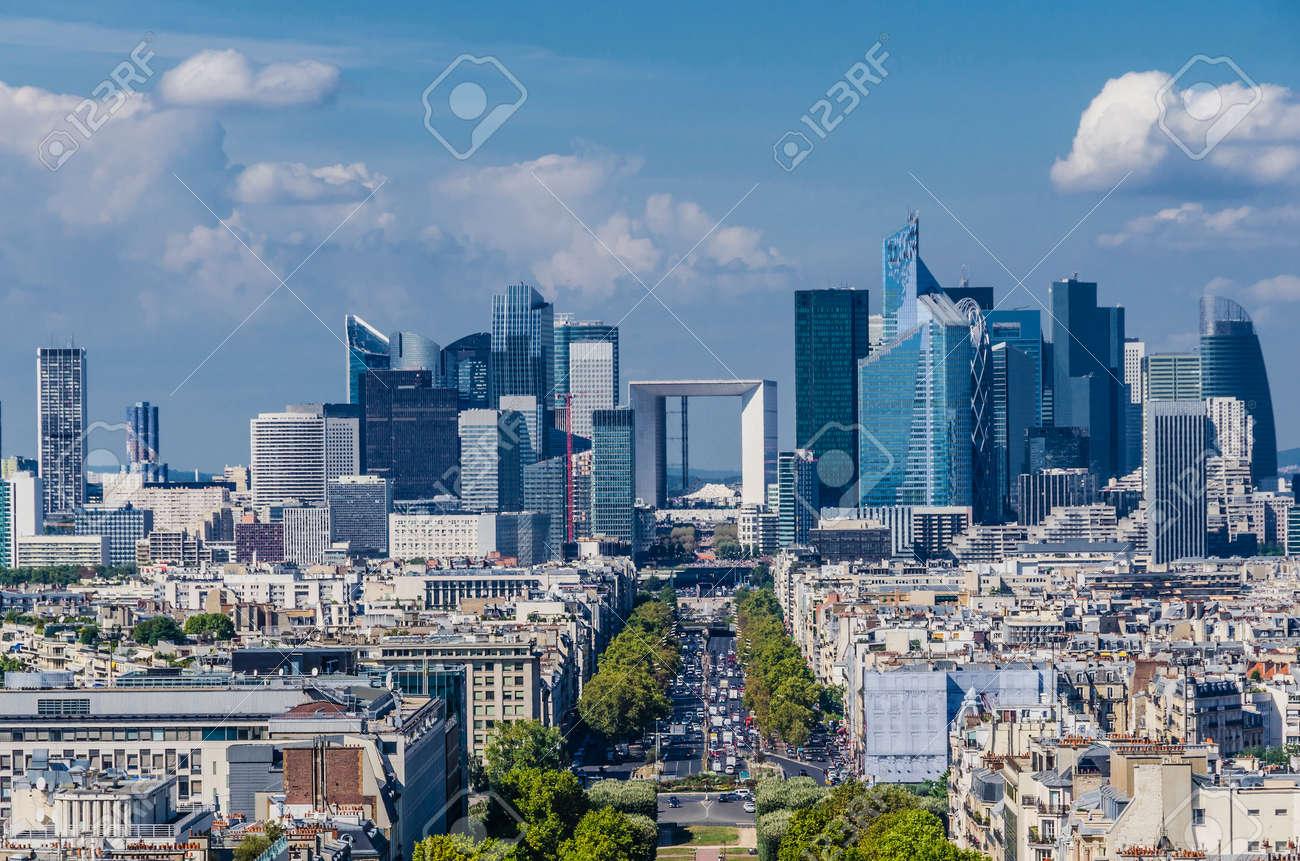 modern architecture city. Fine Architecture Skyline Of Business District Paris La Defense Modern Architecture  Stock Photo  34871959 In Architecture City