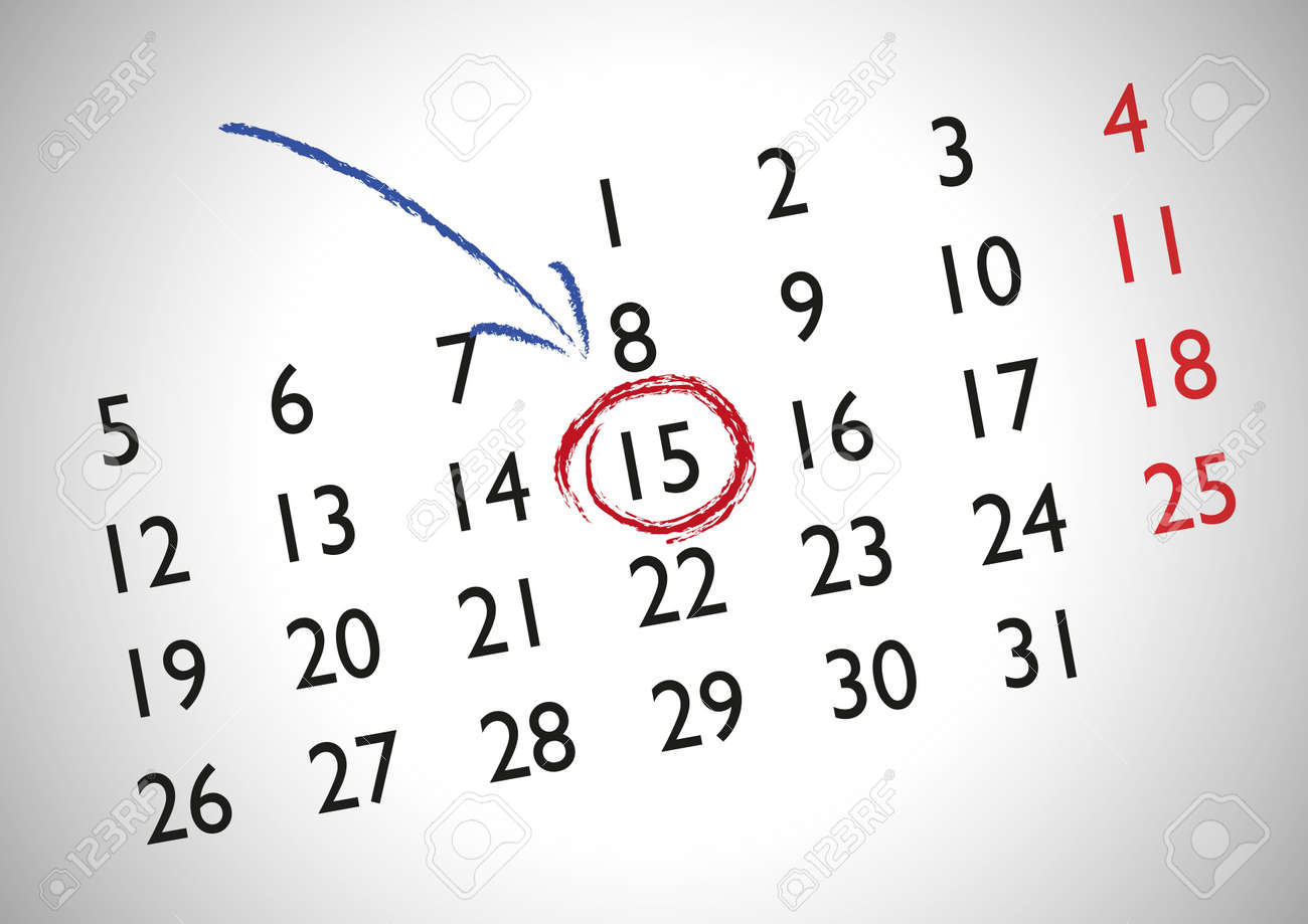 Calendrier Rendez Vous.Rendez Vous Dans Un Calendrier Generique Pour Marquer Une Date Importante