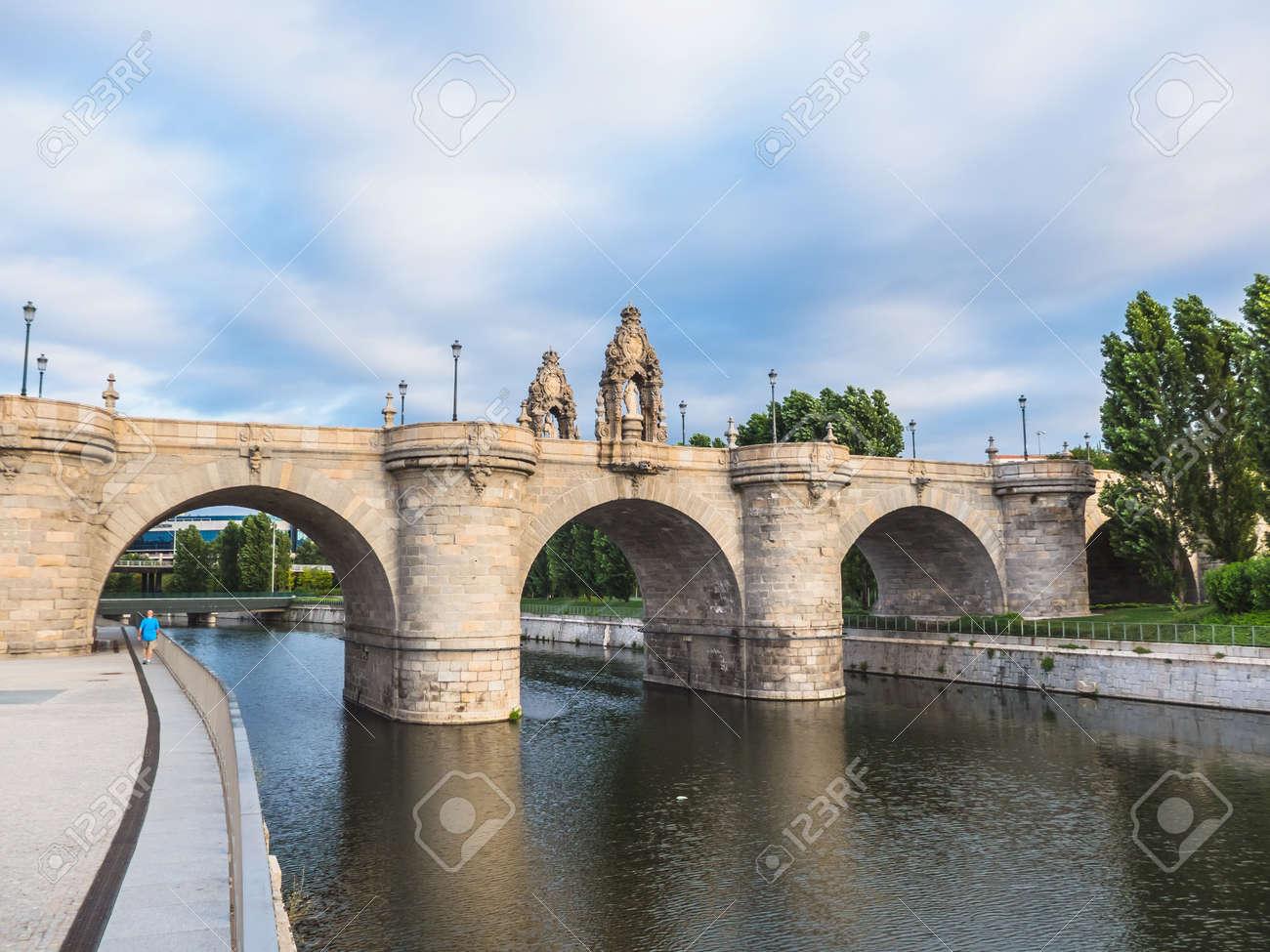 Puente De Toledo Over River Manzanares Madrid Spain