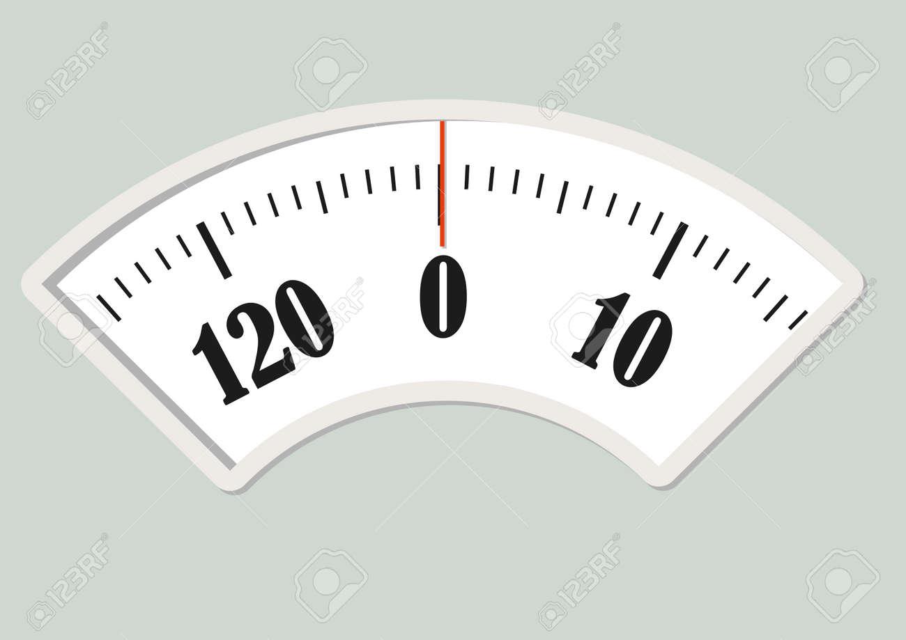 Bath scale dial. Measurement instrument for a diet control - 48519609