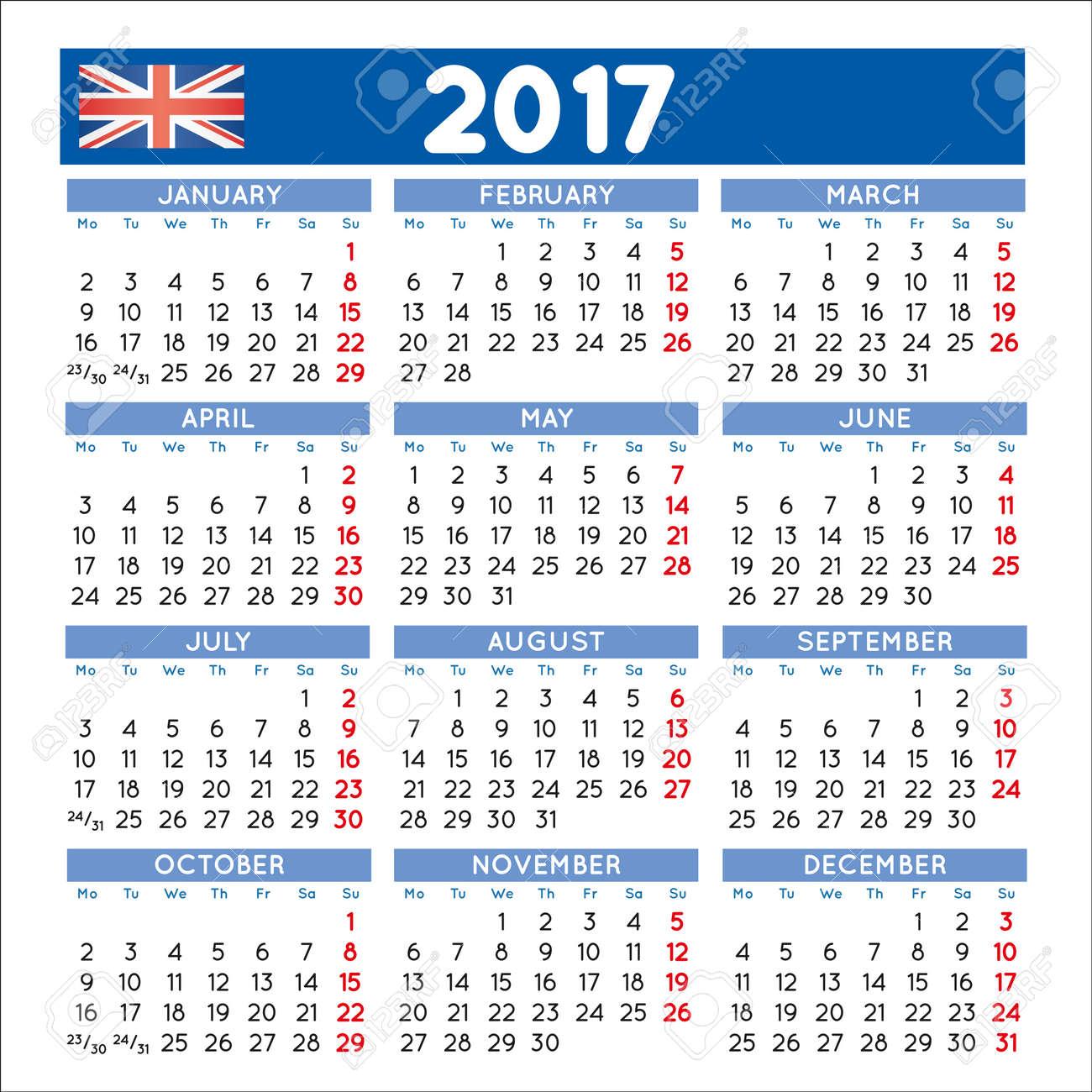 Calendar 2017 File easy