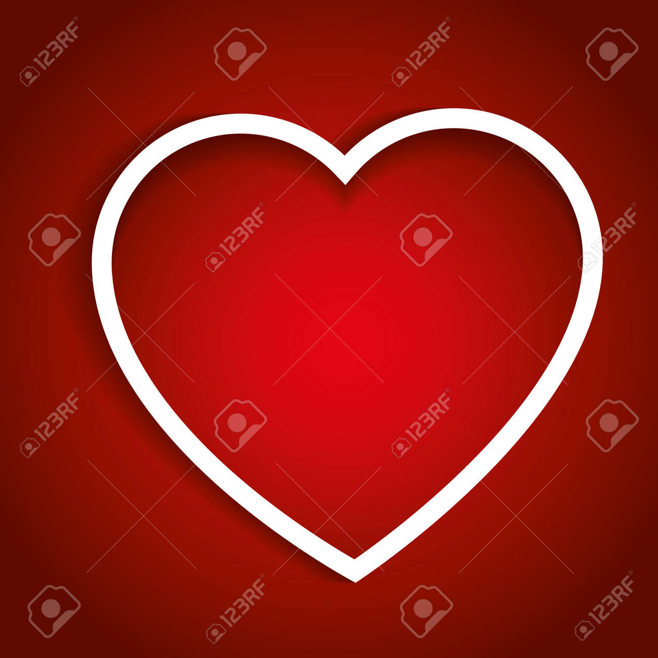 Valentines Heart In Red Valentines Day Love Concept Love Symbol