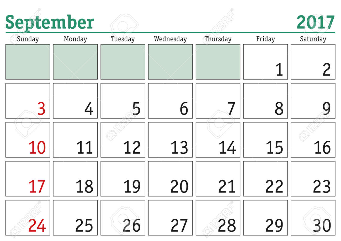 monthly appointment calendar