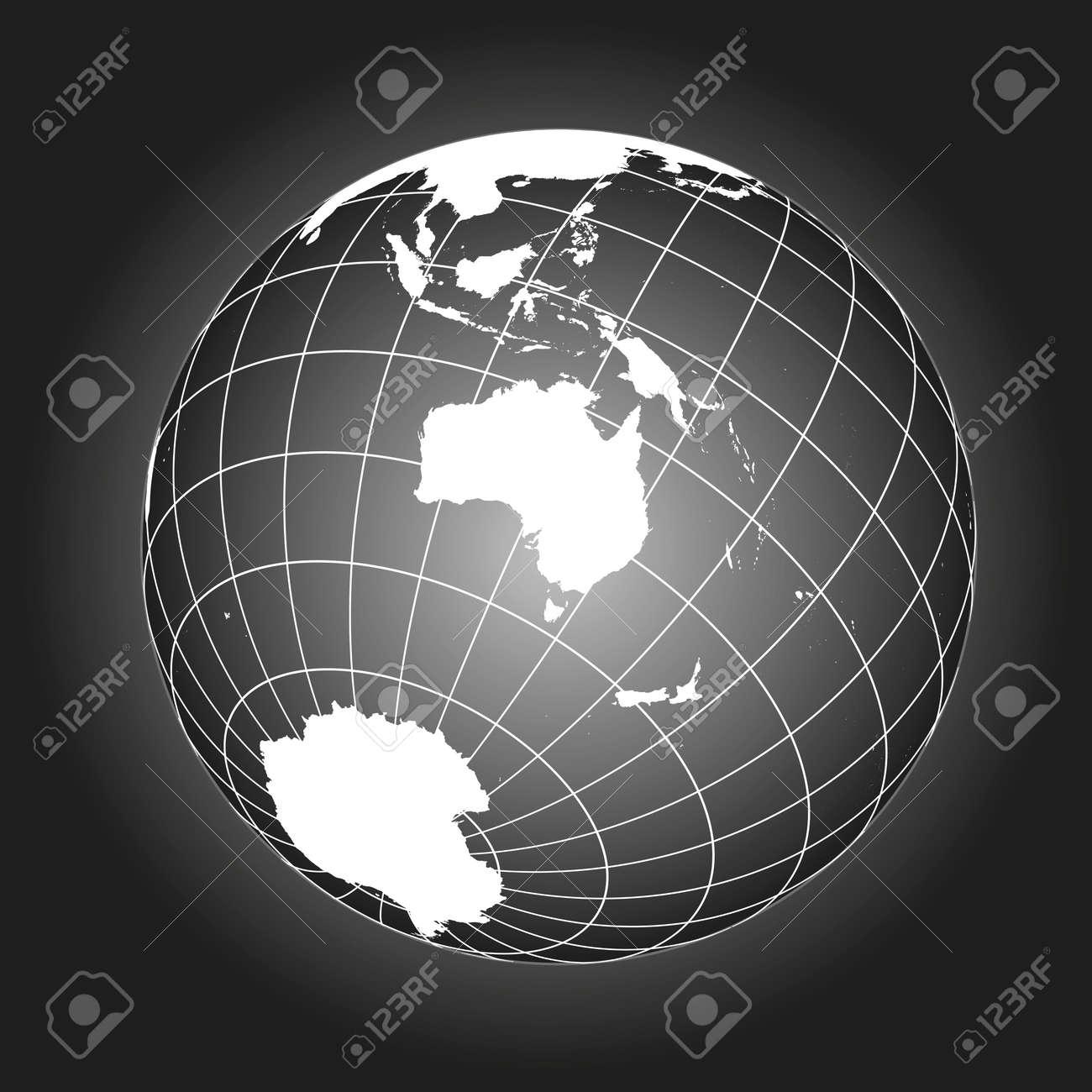 Carte Russie Australie.Carte Australie Ou Oceanie Australasie Asie Russie Antarctique North Pole Globe Terrestre Carte Du Monde Les Elements De Cette Image Fournis