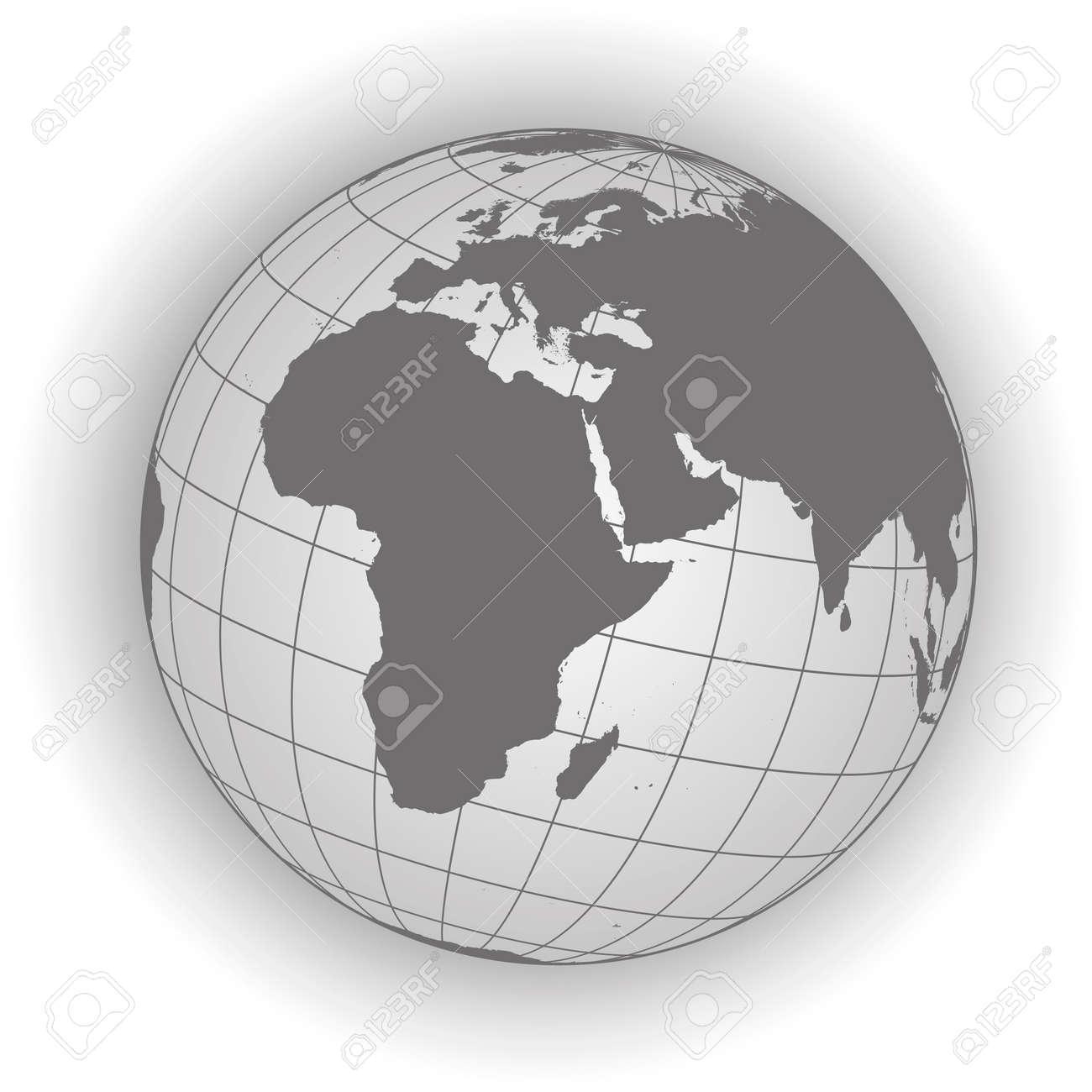 Karte Russland Asien.Stock Photo