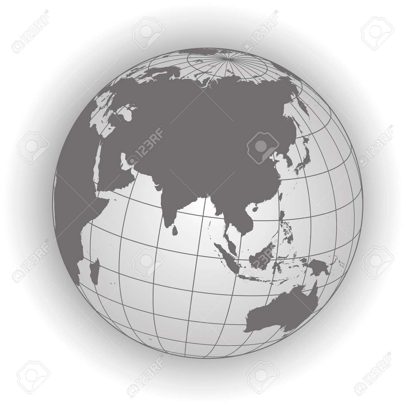 Carte Russie Australie.Carte Asie Australie Russie Afrique North Pole Globe Terrestre Carte Du Monde Les Elements De Cette Image Fournis Par La Nasa