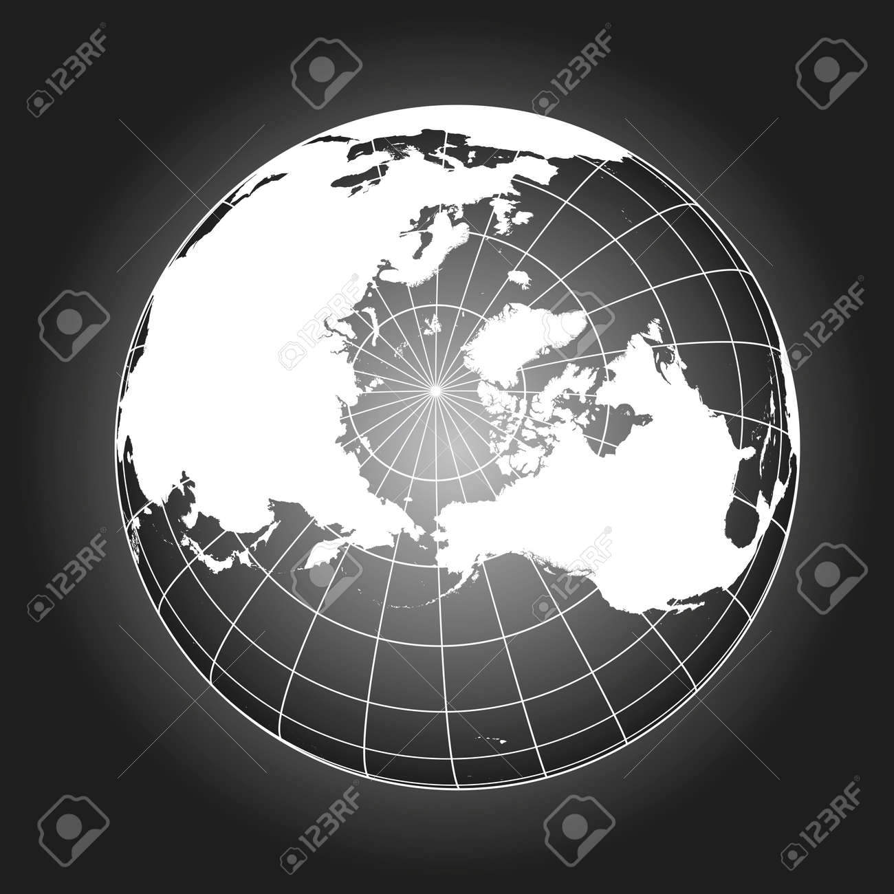 North pole map europe greenland asia america russia earth north pole map europe greenland asia america russia earth globe gumiabroncs Choice Image