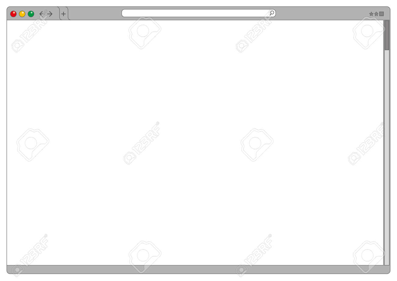 blank computer interface of an internet web browser cleared