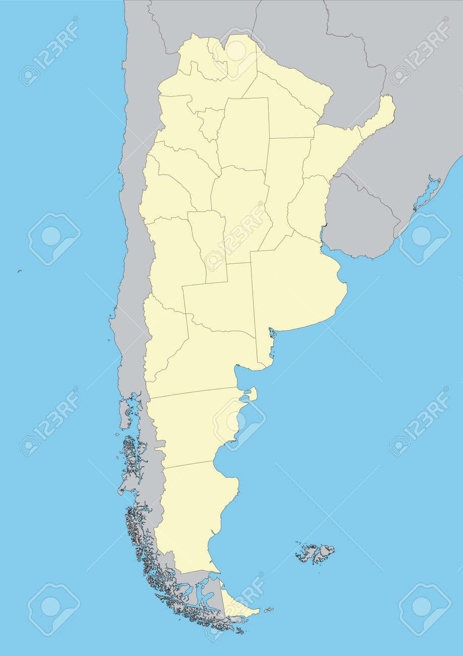 Mapa De Argentina Provincias.Mapa Del Vector Detallado Alto De Argentina Con Las Provincias Archivo Facil De Editar Y Aplicar