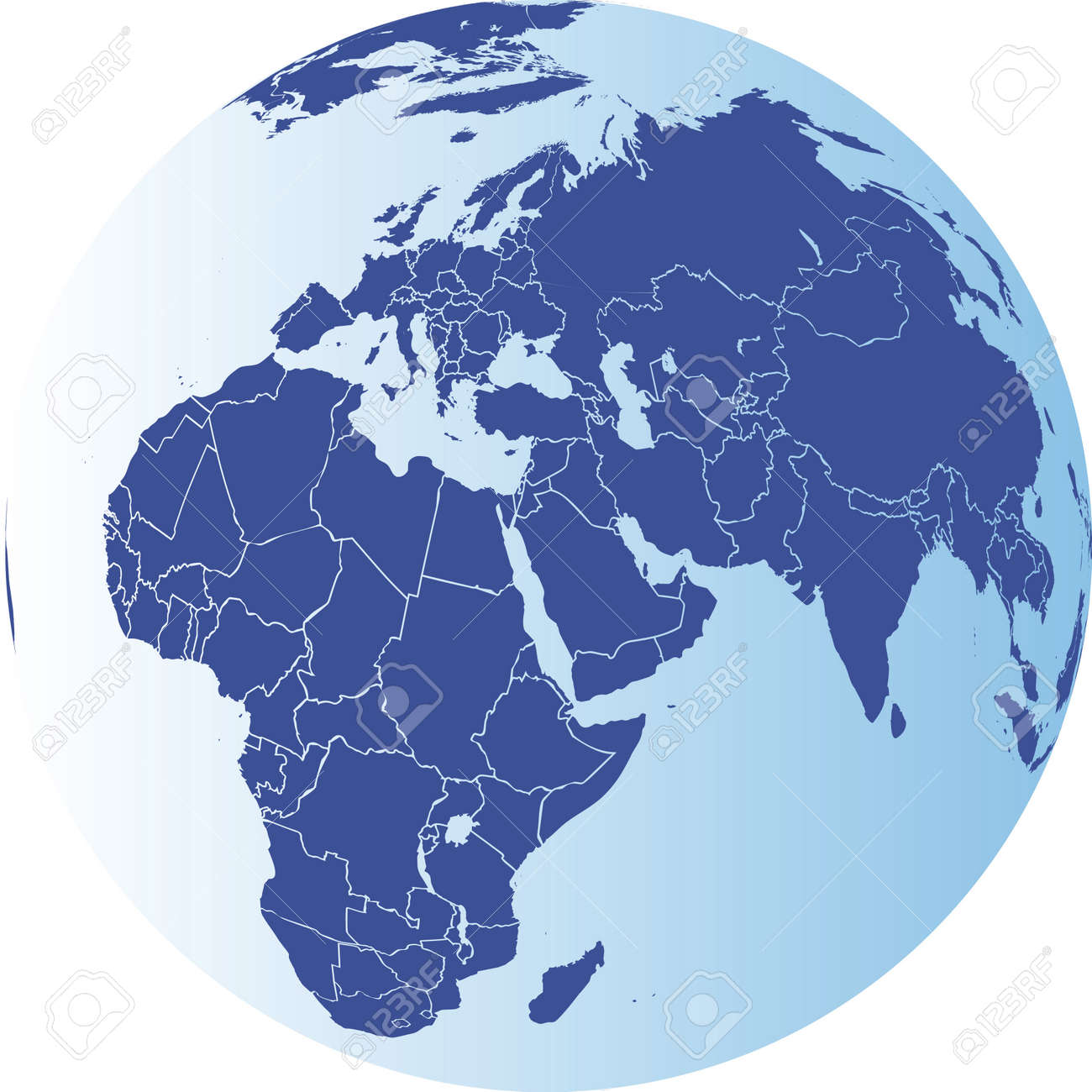 europe africa and asia globe vector file elements of this image furnished