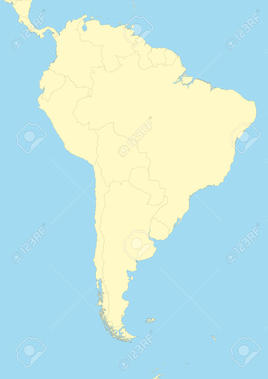 Very detailed map of South America. File easy to edit and apply... on map of spain, map of bahamas, map of jamaica, map of argentina, map of united states, map of middle east, map of amazon river, physical map latin america, map of caribbean, map of atacama desert, map of puerto rico, map of canada, map of falkland islands, countries in south america, map of saudi arabia, map of costa rica, map of ecuador, map of bolivia, map of west indies, map of guyana,