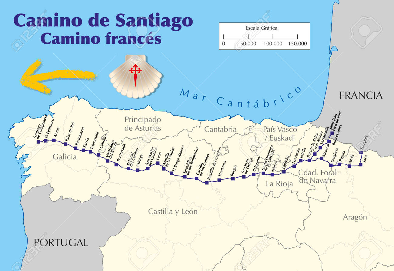 Map of Camino de Santiago. Map of Saint James way with all the.. Map Camino Frances on france country map, home map, france natural resources map, gibraltar map, pilgrimage map, food of france regions map, paris france landforms map, burgos map, pyrenees map, hospital map, ponferrada map, france airports map, west france map, spain map, samos map, santiago de compostela map, spanish-speaking country map,
